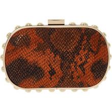 Orange Reptile Effect Clutch Bag
