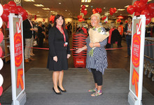 Marie Jones of Sheffield is first in the queue at TK Maxx Wadsley Bridge and also helped open the new store