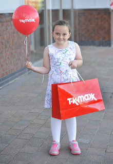 Sophie Porter aged six, from Bolton attended the grand opening of TK Maxx Middlebrook