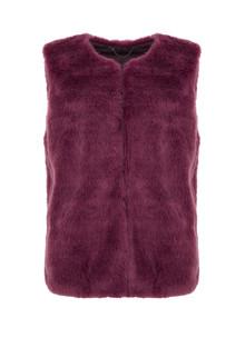 Purple Faux Fur Gilet
