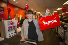 Eager shoppers at the new Selly Oak TK Maxx store