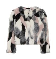 Multicoloured Faux Fur Jacket