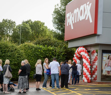 Eager shoppers queued at TK Maxx Andover to be one of the first customers to visit the new store the moment it opened