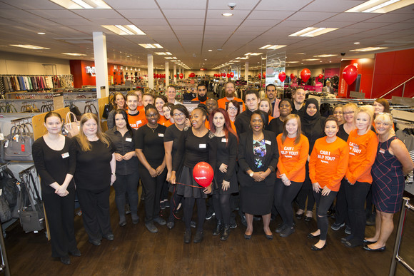 The TK Maxx Selly Oak Team gathers before the store opens
