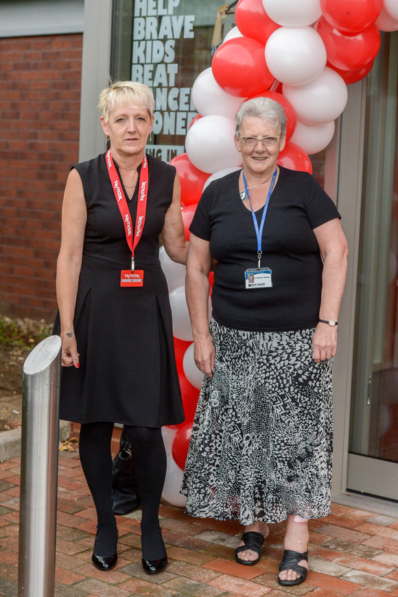 Store manager Liz Whitaker welcomes Test Valley Mayor Iris Andersen who visited the TK Maxx Andover store opening
