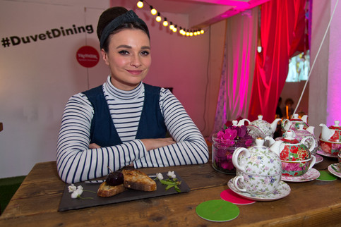 Gizzi Erskine launches #DuvetDining pop-up