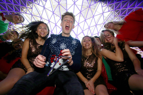 SING-SONG MERRILY ON HIGH: YOUTUBER CASPAR LEE AND ALED JONES RELEASE A VERY 21ST-CENTURY CHRISTMAS CAROL